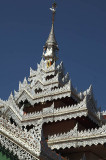 Burma's distinctive filigree temple roofs