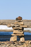 Inukshuk showing the way - Inukshuk die de weg wijst