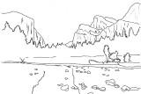 el capitan and bridalveil falls outline