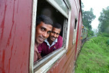Friendly faces; between Colombo and Kandy