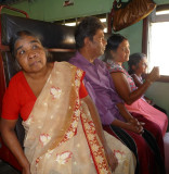Passengers enduring a wait; between Colombo and Kandy