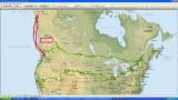 16,030 kms à travers les États-Unis et le Canada 2012