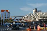The Zuiderdam docked in front Queen Juliana Bridge
