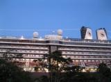 Zuiderdam docked at dusk