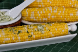 Corn on the Cob with Garlic, Jalapeno, Cilantro, Lime Butter