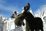 It's a Small World Moose Topiary