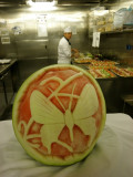 Westerdam kitchen galley tour fruit art
