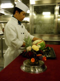 Westerdam's Culinary Arts Fruit Carving