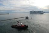 Cruise ship approaching Ogden Point
