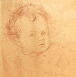WDA as a baby, Christmas 1918, by Cora Gordon