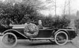 Ashley's car, 15th April 1922. In 1916 he drove a two seater open Peugeot Baby.