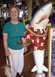 MY WIFE, AT A FORT WALTON BEACH, FLORIDA SEAFOOD RESTAURANT  -  ISO 800
