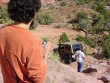 Montego watching his Jeep fly and bounce off the rocks !!!