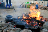 Big fire to get hot hot coles to make the dutch ovens work !!!