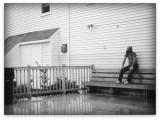 Dude Sitting In Rain
