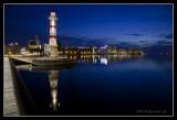 Malmö Harbor on a windless evening