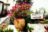 Anafiotika - Sign to Acropolis