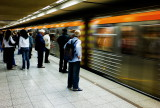 Inside Monastiraki Metro Station