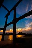 Gantry at sunset
