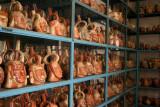 Pots in storage