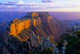 Sunset at Woton's Throne, Cape Royal, North Rim, Grand Canyon National Park, AZ