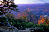 First light at Hayden Peak, Point Imperial, North Rim, Grand Canyon, AZ