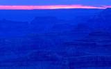Blue layers after sunset, Yavapai Point, South Rim, Grand Canyon National Park, AZ
