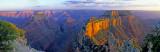 Woton's Throne Panoramic, Cape Royal, North Rim, Grand Canyon National Park, AZ