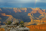 Double rainbow at Mather Point, Grand Canyon National Park, AZ