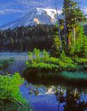 (PNW22) Mt. Rainier and Reflection Lake, Mt. Rainier National Park, WA