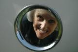 Shirley at the porthole