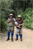 David and John in the Rain Forest