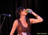 Nicki Bluhm samples the house beverage