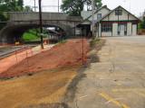 graded ramp area