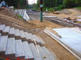 concrete steps & platform