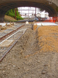 The ditch is for footing for the platform, not a drain