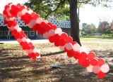 Balloons in Fairmount Park for a marathon
