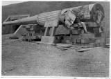 16-inch gun outside Townsley 1939.jpg