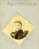 Marguerite Nicklaus, c1885. My great-grandmother as a teenager.