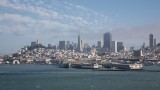 San Francisco skyline from liner