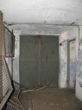 Interior of main double doors. Note bunks.