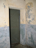 Interior of air lock door.