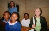 Julie in East Africa school kids