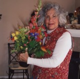 Patsy with get well flowers. Dec. 28, 2007 CLICK IMAGE FOR LETTER