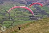 Paragliders in the Peaks