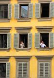 Window watching, Florence