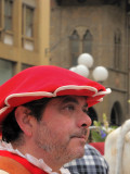The man with the red hat