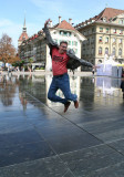 The jumping traveller is in Bern! But where are the bears?