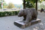 Bear cast in stone