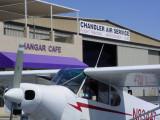 An airplane at the Hanger Café